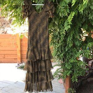 Ruffled Leopard print dress